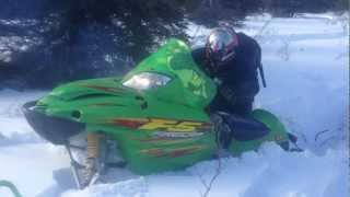 2. 2003 Arctic Cat F5 Firecat in Deep Snow on Mount Lorne, Yukon