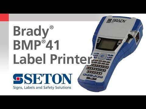 Brady® BMP®41 Printer Overview   Seton Video