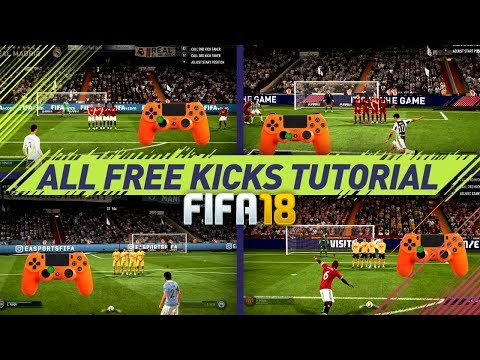 FIFA 18 ALL FREE KICKS TUTORIAL - MOST EFFECTIVE FREE KICKS (NEW, HIDDEN, SECRET, OLD) HOW TO SCORE