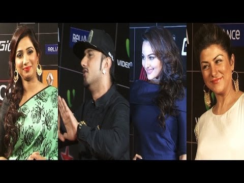 Sonakshi,Honey Singh,Asha Bhosle & Others On Red Carpet Of 4th Star GIMA Awards
