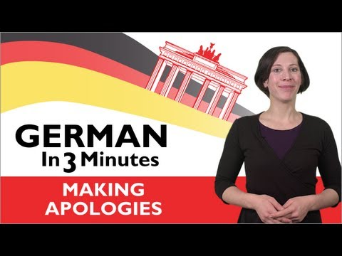 Sich entschuldigen auf deutsch