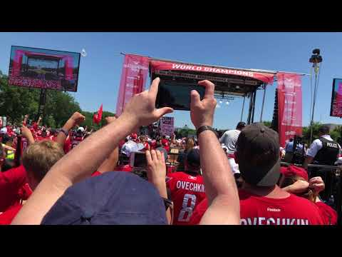 Introduction of the Washington Capitals at the Stanley Cup Champions Parade