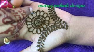 hello all,here is a video on easy mehndi henna designs for hands.https://www.instagram.com/divya080/subscribe for more videos:https://www.youtube.com/channel/UCECgulN13NACgO49LRXeQpAfacebook : https://www.facebook.com/Matroj-Mehndi-Designs-284372255239829/