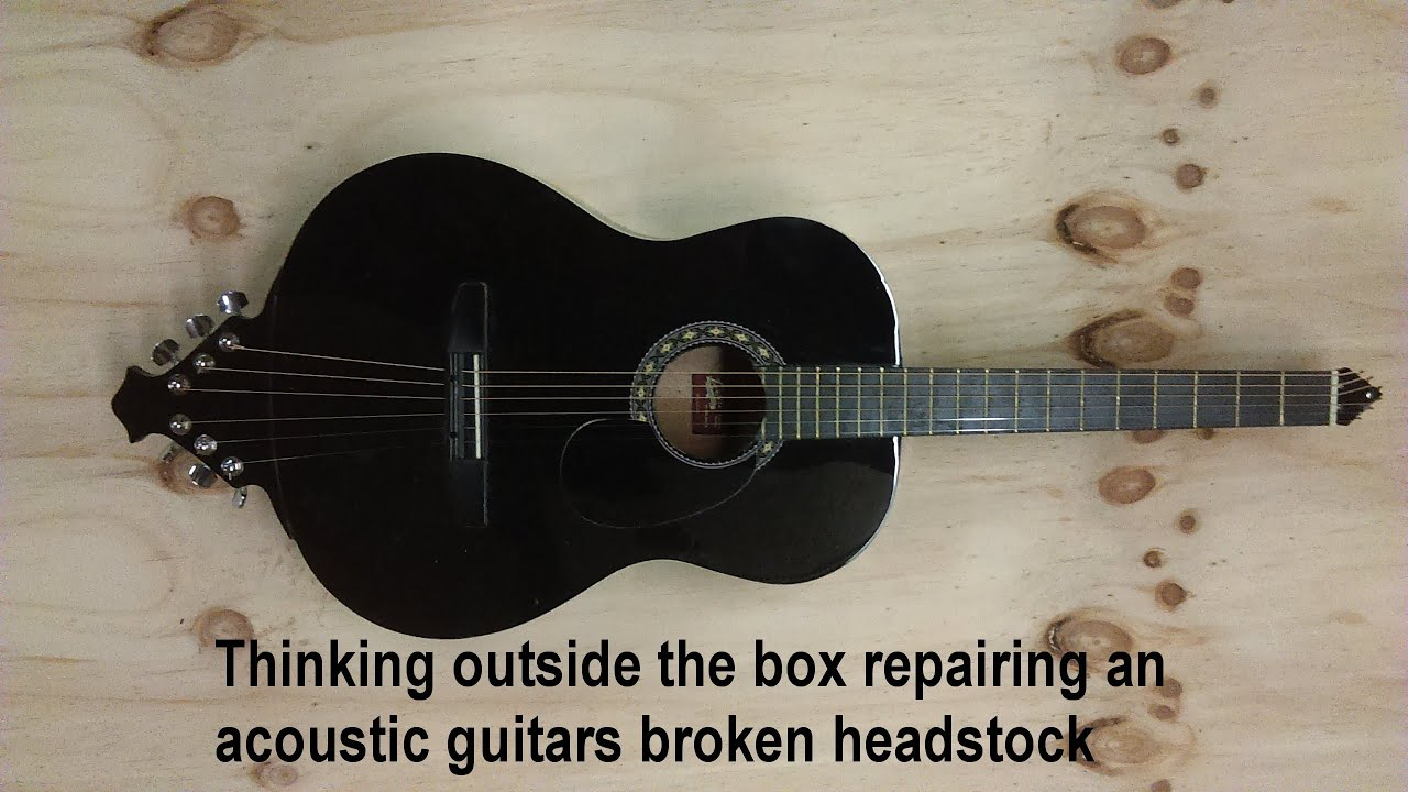 thinking outside the box : repairing an acoustic guitars broken headstock -headless acoustic guitar