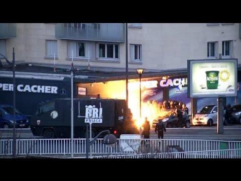 Document BFMTV - Les images de l'assaut Porte de Vincennes