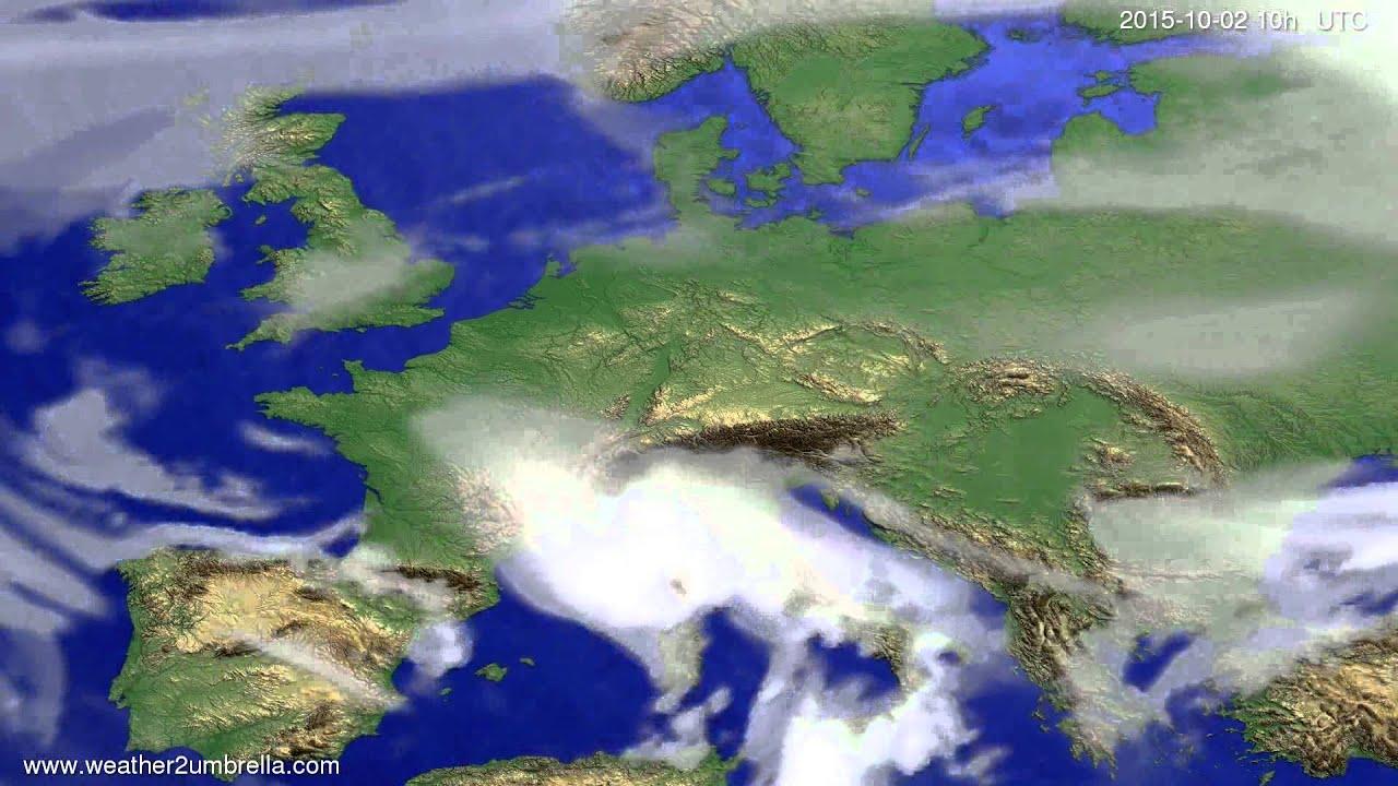Cloud forecast Europe 2015-09-30