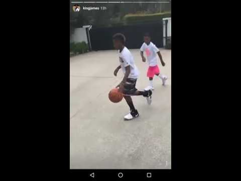 LeBron James Snapchat: Color Commentary Watching His Kids Play 1-on-1