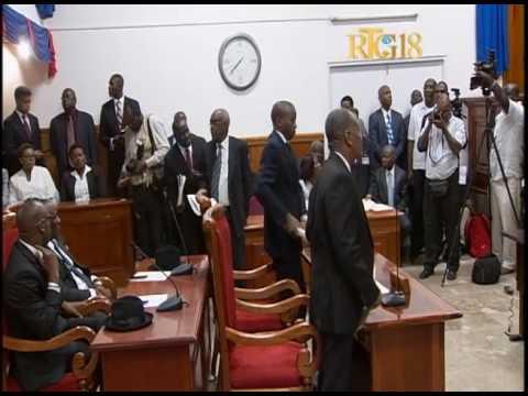 Parlement haïtien.- La séance de validation et de prestation serment des 6 nouveaux sénateurs