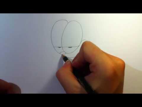 Garfield zeichnen \ Garfield malen – Malvorlagen