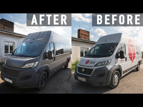 Finalizing Van's Exterior Look & Cutting Windows / Campervan Conversion in Europe (Ep. 4)