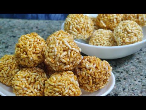ಚುರುಮುರಿ ಉಂಡೆ/ ಪುರಿ/ಮಂಡಕ್ಕಿ ಉಂಡೆ/Churmuri Unde/Crispy and healthy Murmura/puffed rice Laddu.