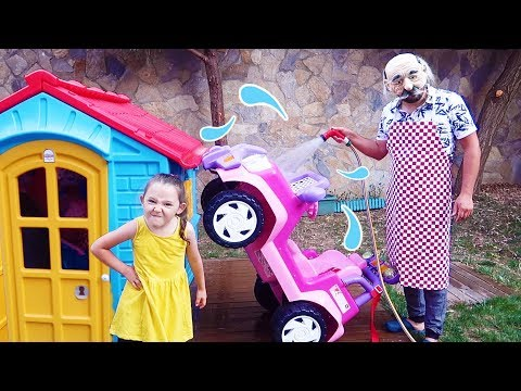 Büyükbaba Oyun Peşine! Grandpa Cleared his Öykü's Car - fun kids video Oyuncak Avı