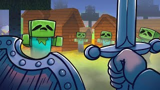 Minecraft Dragons - SAVING VILLAGE FROM ZOMBIES!