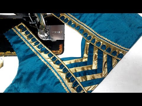 Video easy  blouse back neck designs  cutting and stitching at home download in MP3, 3GP, MP4, WEBM, AVI, FLV January 2017