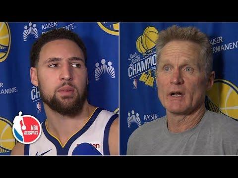 Steve Kerr, Klay Thompson credit Warriors' defense for victory vs. Thunder   NBA on ESPN
