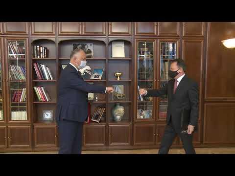 Игорь Додон провел встречу с председателем Административного совета Национальной комиссии по финансовому рынку