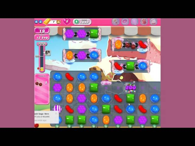 how to play candy crush level 1642