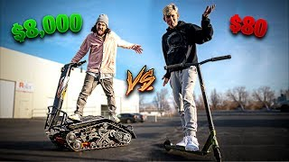 WEIRD NEW $8,000 OFF-ROAD SCOOTER VS TFOX PRO SCOOTER!