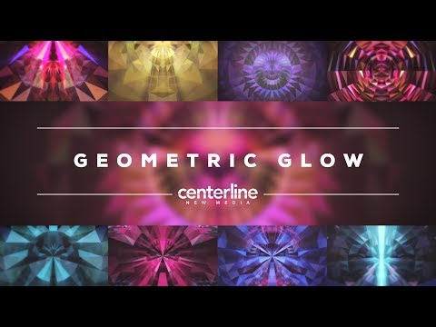 Geometric Glow Looping Motion Backgrounds