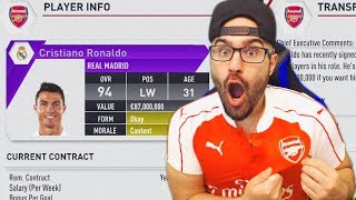 In this episode of Arsenal Career Mode we're going to have a little bit of fun and try to sign Ronaldo! ▻Second Channel: ...