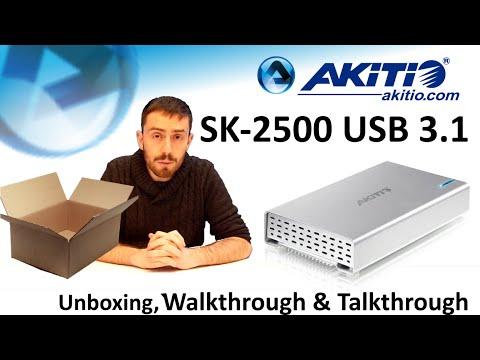 """The Akitio SK-2500 USB 3.1 Gen 2 2.5"""" Drive Enclosure - Unboxing, Walkthrough and Talkthrough"""