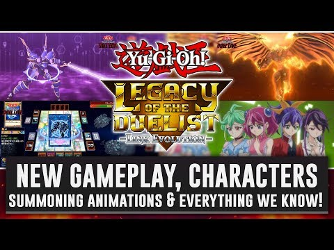 Yu-Gi-Oh! Legacy Of The Duelist: Link Evolution NEW GAMEPLAY, CHARACTERS & SUMMONING ANIMATIONS!