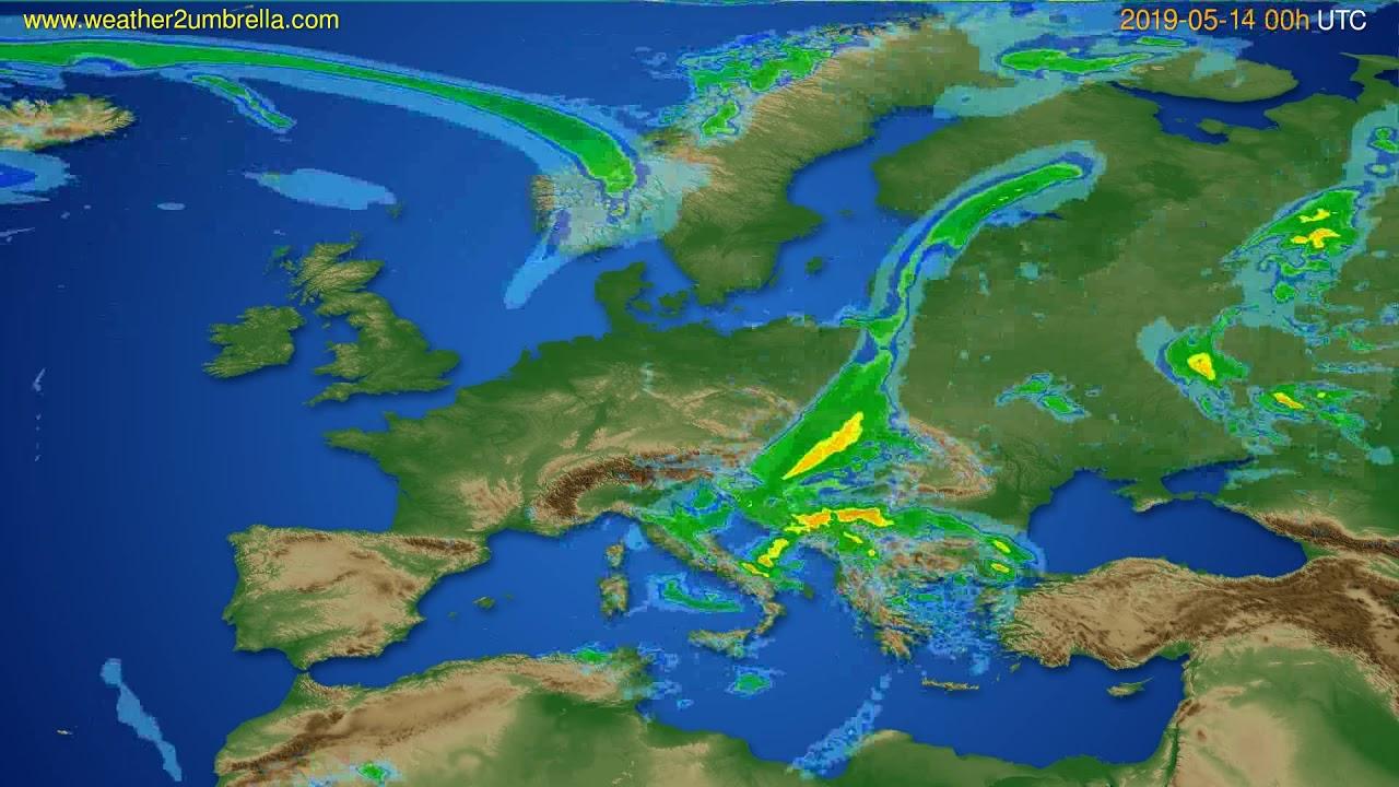 Radar forecast Europe // modelrun: 12h UTC 2019-05-13