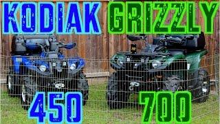 10. Yamaha Grizzly 700 & Kodiak 450 - A Closer Look - Sept. 20 2014