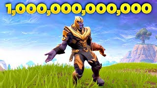 I Played THANOS Doing Orange Justice Dance in Fortnite Over 1 Trillion Times and This Happened...