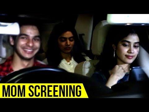 Jhanvi Kapoor And Ishan Khattar At Mom Movie Scree