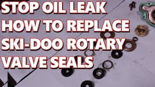 3. How to Replace Skidoo rotary Valve Seals.  Stop Injector Oil Leak