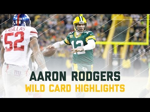 Aaron Rodgers 362 Yards & 4 TDs! | Giants vs. Packers | NFL Wild Card Player Highlights (видео)