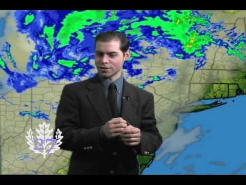 Weather man Darren MacTavish Drunk