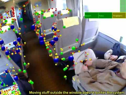 tracking - Video results for an Augmented Reality tracking system. A computer tracks a camera and works out a map of the environment in realtime, and this can be used t...