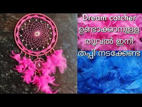 Diy feathers for dream catcher   how to colour natural feathers in super easy way    malayalam