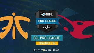 Fnatic vs mousesports - ESL Pro League S8 EU - bo1 - de_train [Mintgod, Anishared]