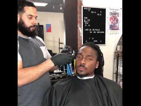 Cutting off eight years of dreads - by Barber Riko