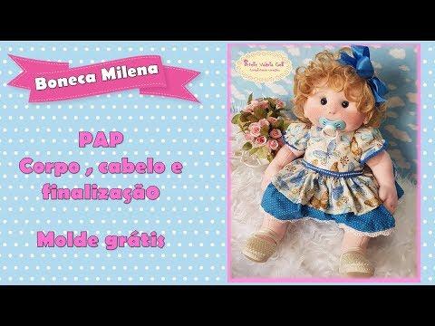 boneca de pano Milena