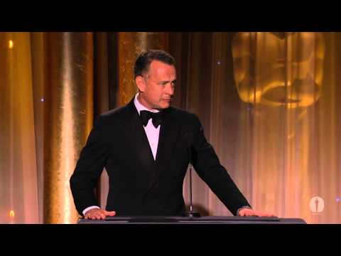 Tom Hanks - Tom Hanks speaks as part of the award presentation to Honorary Award recipient Steve Martin at the 2013 Governors Awards in the Dolby Ballroom at Hollywood &...
