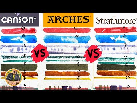 Canson vs Arches vs Strathmore ~ Watercolor Paper Comparison