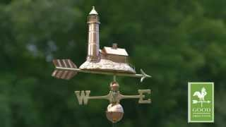 Lighthouse Weathervane - Polished Copper - Good Directions