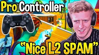 Tfue *TOXIC* after PRO CONTROLLER *DESTROYS* HIS TEAM! (Fortnite)