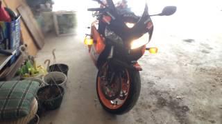 5. HotBodies Undertail Exhaust Cold Start 2005 Honda CBR1000RR Repsol