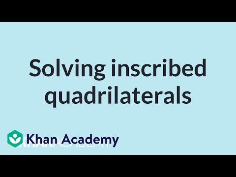 Solving Inscribed Quadrilaterals Video Khan Academy