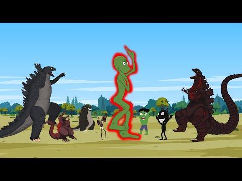 Godzilla vs Shin Godzilla : Dame Tu Cosita Speed Challenge Funny   Godzilla Animation Cartoon