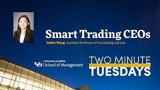 YouTube video highlighting School of Management faculty research on stock trading CEOs.