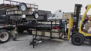 Unloading Utility Trailers from Flatbed