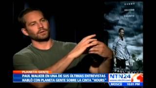 Esta Es La última Entrevista Que Concedió El Actor Paul Walker Antes De Su Muerte A NTN24