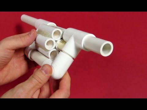 PVC Blowgun Revolver - Six Shooter - How to make a Blowgun