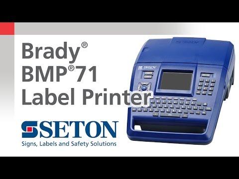 Brady® BMP®71 Label Printer Overview | Seton Video